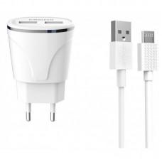 CHARGEUR KINGLEEN 2 USB /Micro / 2.1A/ C830E