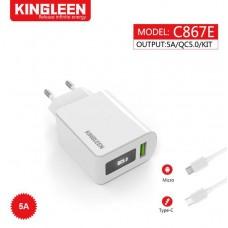 CHARGEUR KINGLEEN QC3.0 C867 E 5A
