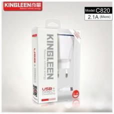 CHARGEUR KINGLEEN 5V 2.1A C820 Micro