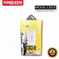 CHARGEUR KINGLEEN MICRO / USB 2.1A /C831