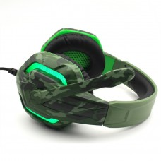 CASQUE MICRO GAMING KOMC G312 Militaire LED