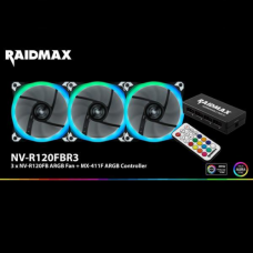 3pcs x Adressable FAN 120mm RGB with RGB Controller RAIDMAX